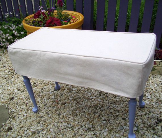 Superb Bench Slipcover Top Stitched Bench Cover Ottoman Cover Uwap Interior Chair Design Uwaporg