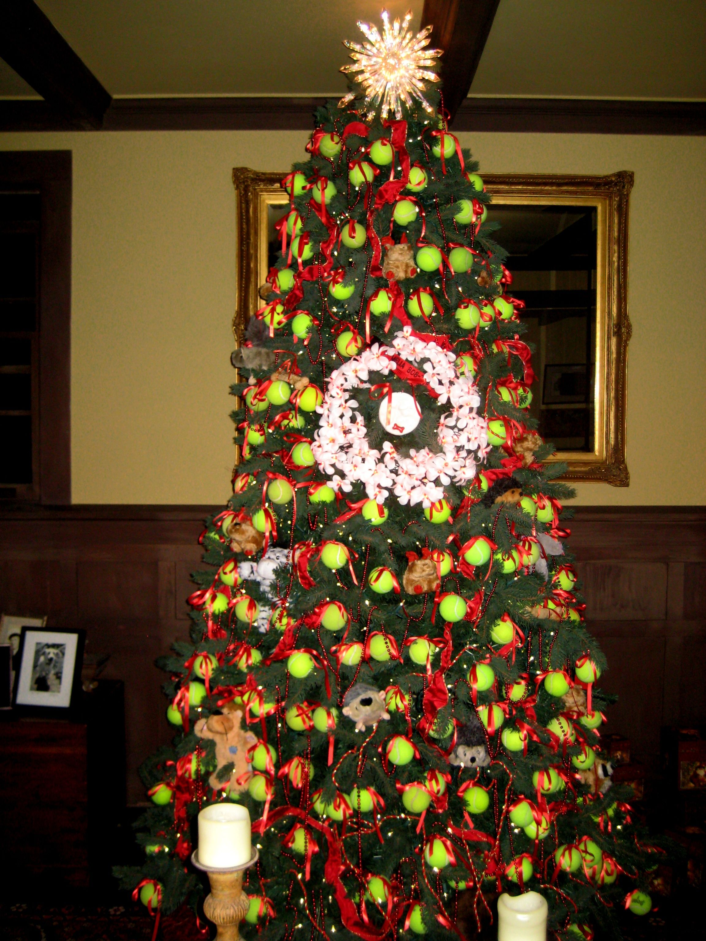 A Special Christmas Tree Covered With 400 Tennis Balls In