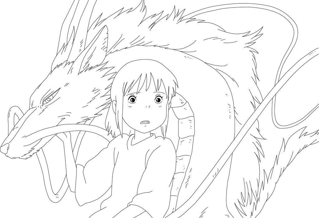 Spirited Away Coloring Pages Dessin Dessin Enfant Drawing