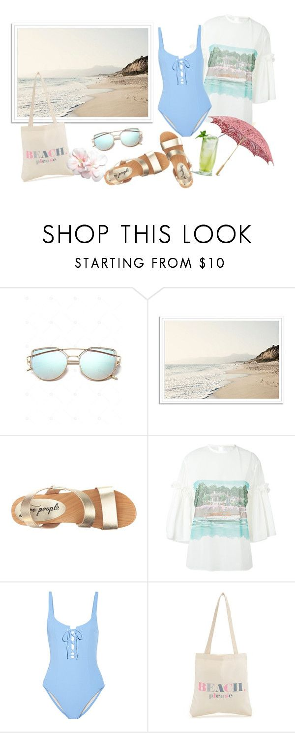 """""""Sunshine In Your Soul"""" by hiddensoulmemories ❤ liked on Polyvore featuring Free People, Marco de Vincenzo, Solid & Striped and Dogeared"""