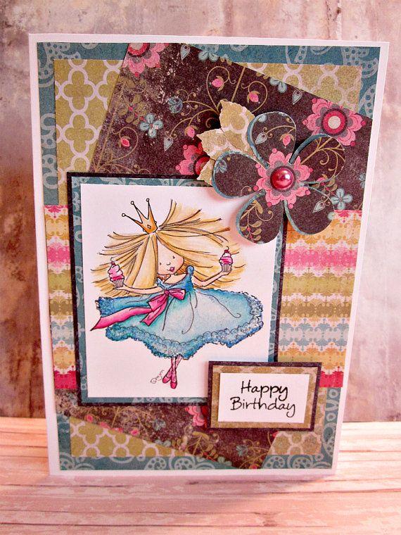 birthday girl handmade birthday card