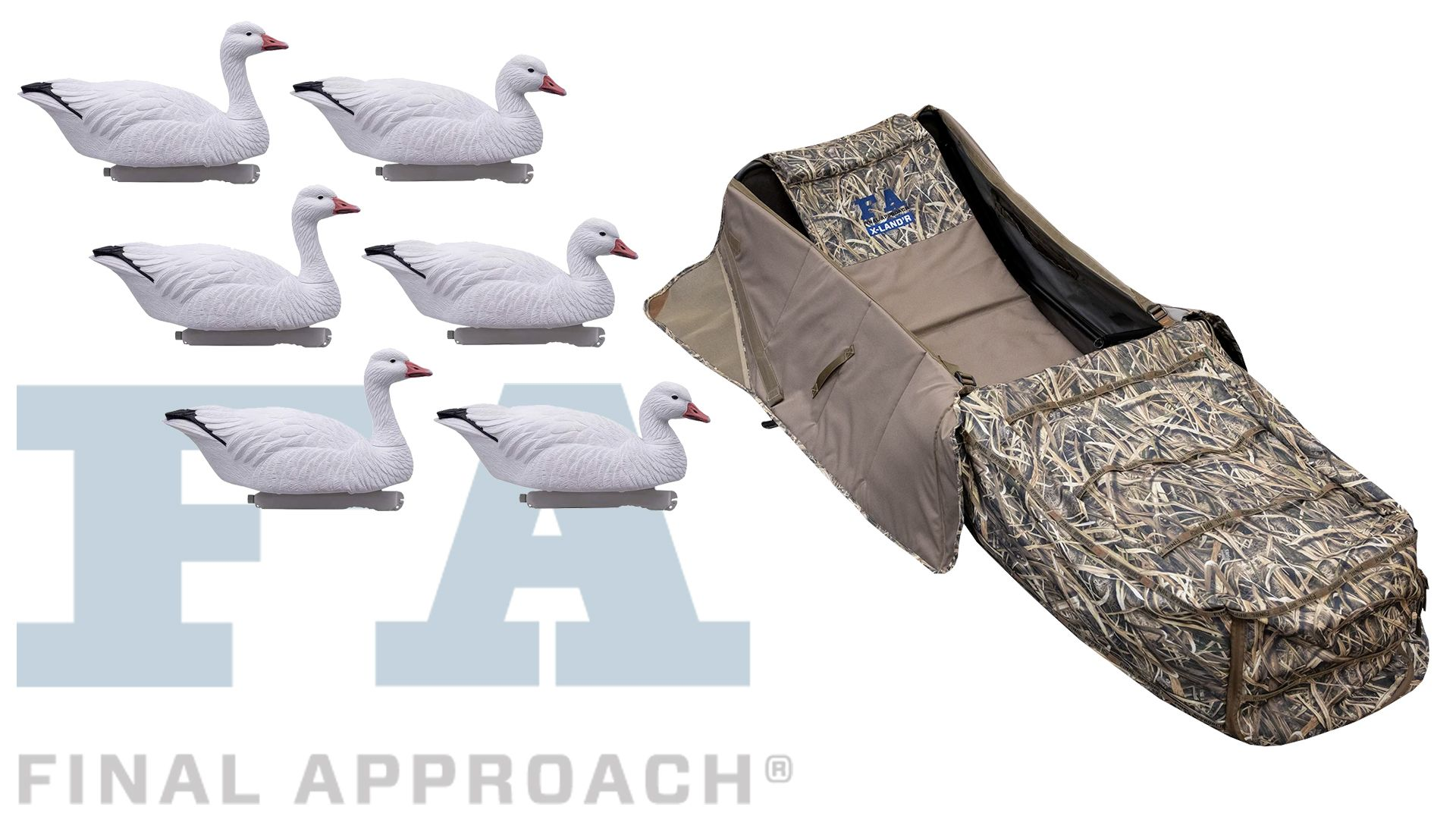 One Lucky Winner Will Receive The Following 1 X Land R Layout Blind 1 Box Of Hd Snow Goose Floaters In 2020 Snow Goose Giveaway Snow