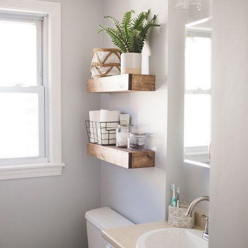 Industrial Interiordesign Bathroom: +30 Small Bathroom Remodel On A Budget Diy Ideas Floating