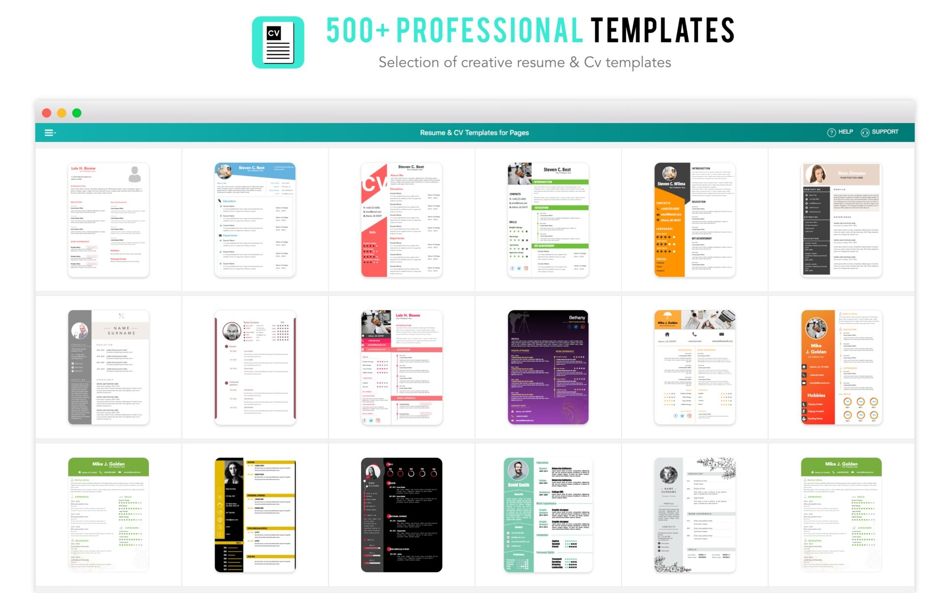 resume cv template for pages 2 2 purchase for mac macupdate