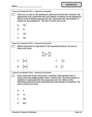 7th Grade Missouri Common Core Math - TeachersTreasures com