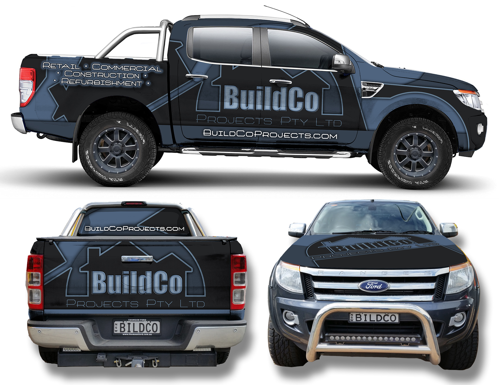 Bold Car Wrap For Construction Company Car Wrap Construction