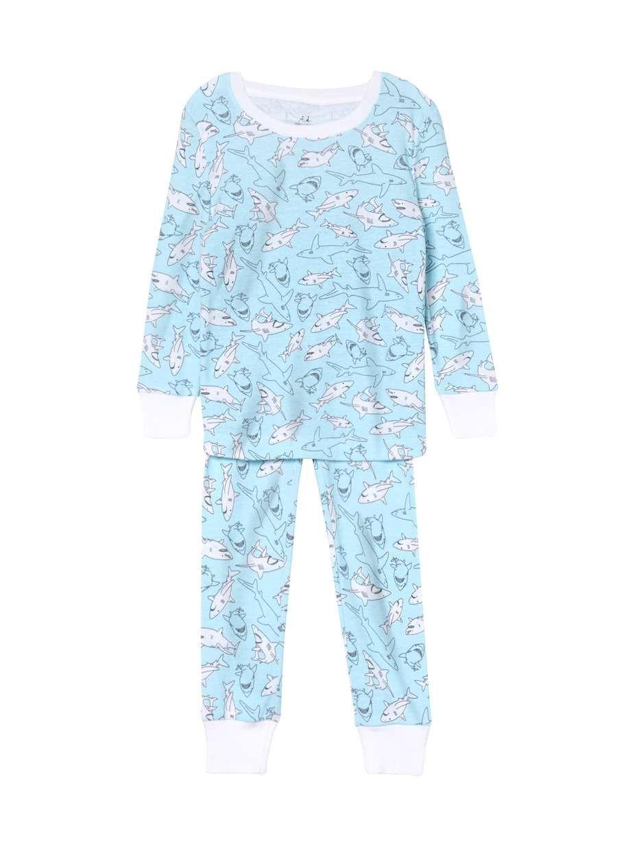 d4eee13d aden + anais Printed Cotton Pajama Set Knit cotton printed top Crewneck  Long sleeve Elasticized cuffs