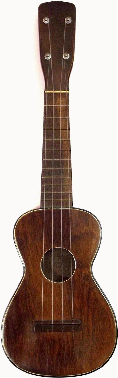 1920's Walnut J R Stewart Soprano Ukulele