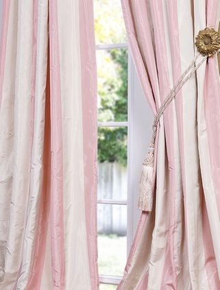 This Is The Fabric I Need To Make Gabie S Curtains With Pink And White Stripes