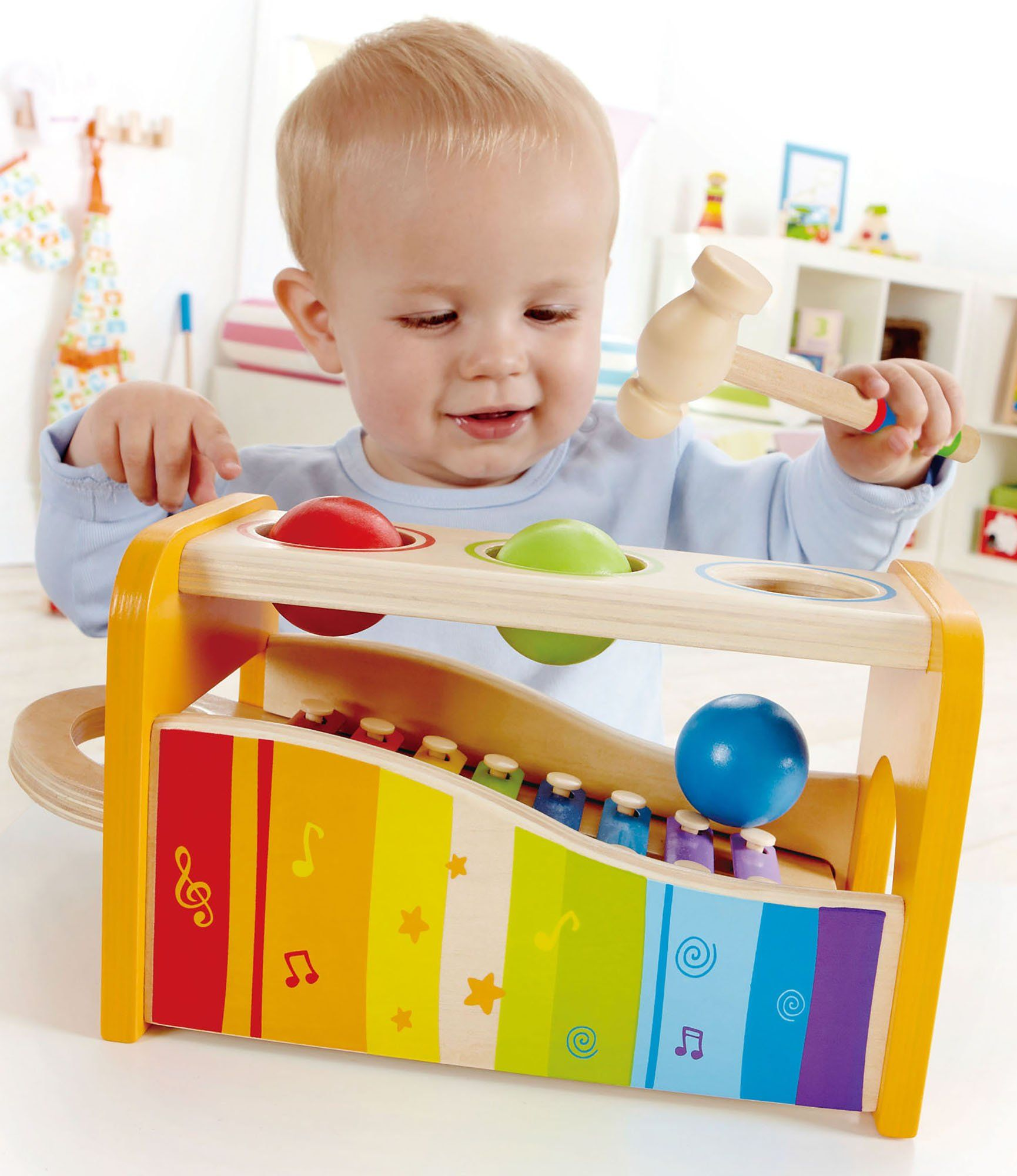 Amazon Hape Pound & Tap Bench with Slide out Xylophone