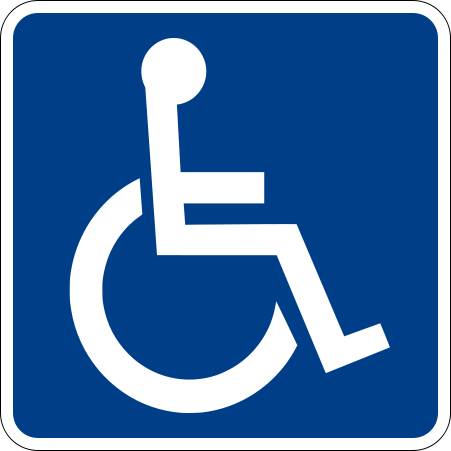 File Handicapped Accessible Sign Svg Symbols Wheelchair Reading Levels