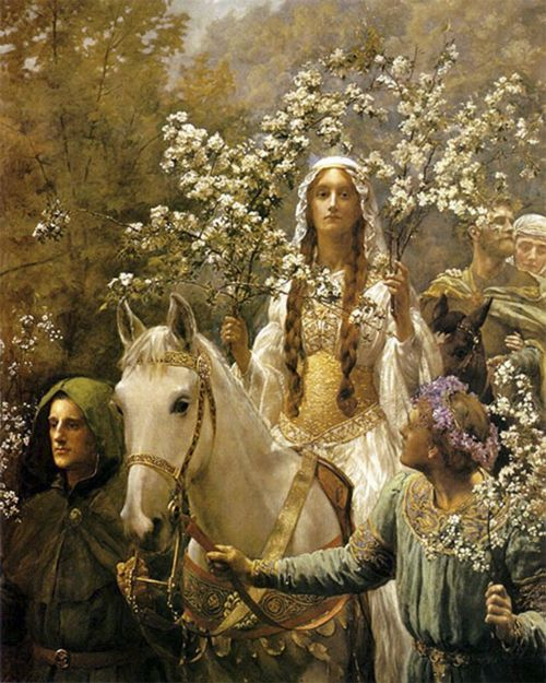 Guinevere A'Maying by John Collier.