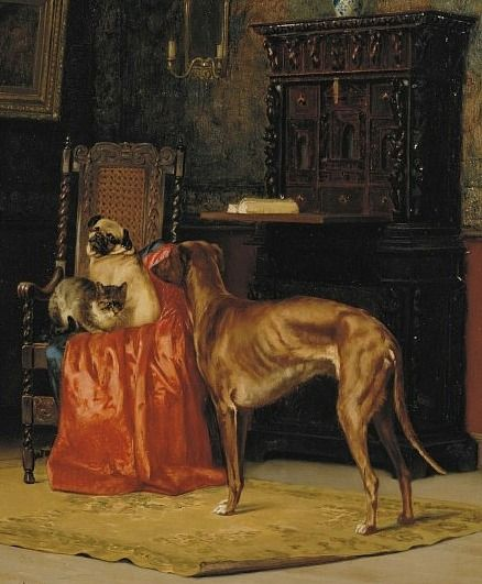 John Henry Dolph The Master S Chair 19th Century Pug Art