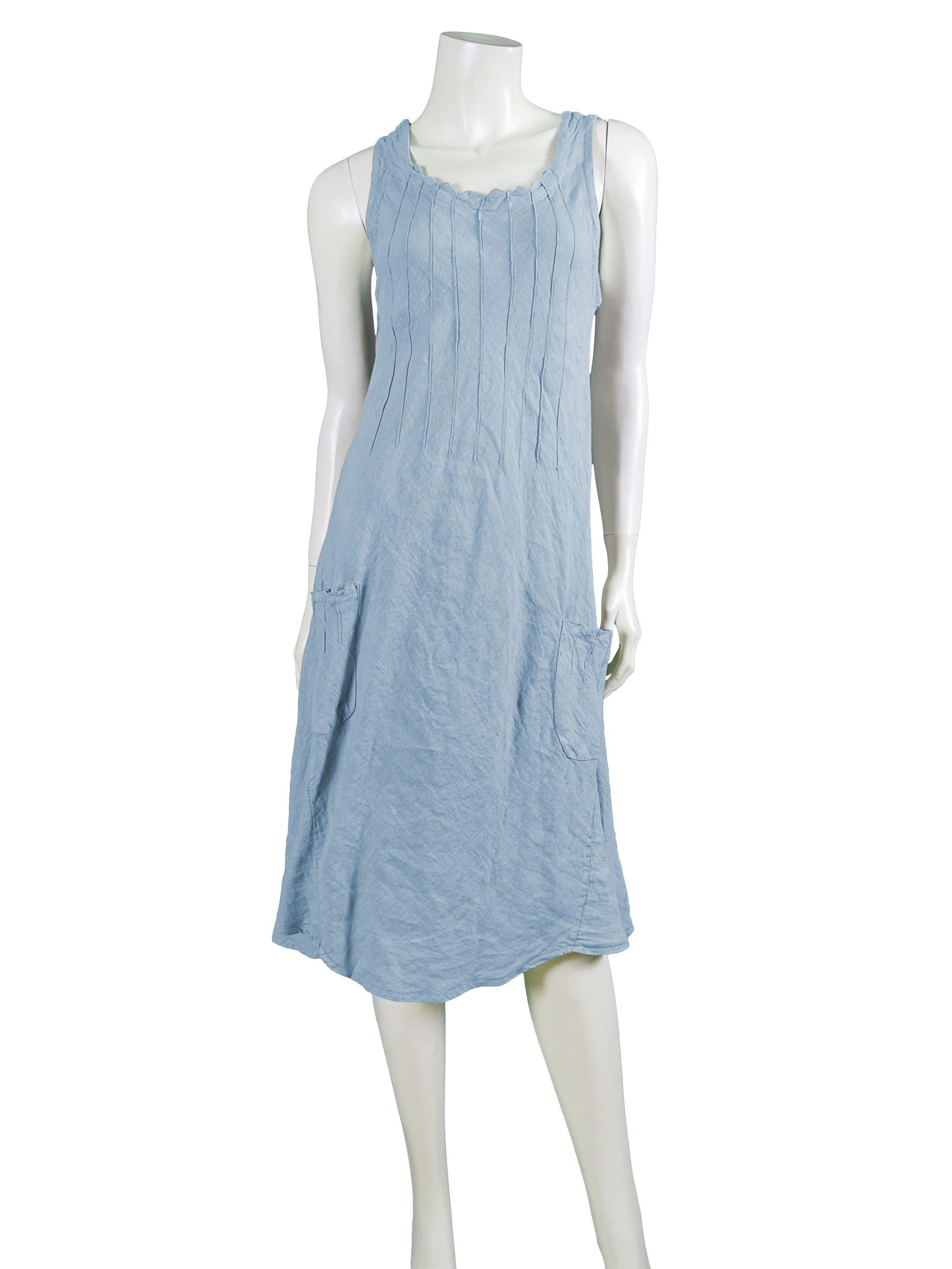 Leinenkleid, hellblau - Diana   Kleider, Leinenkleid ...