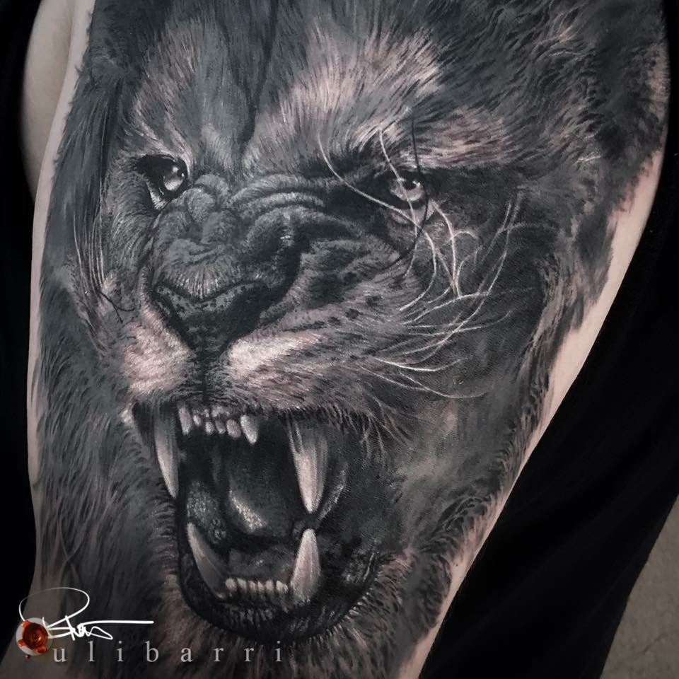 Black and grey realism tattoo by brian ulibarri from