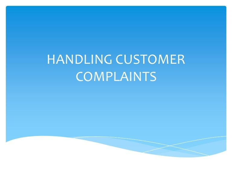 powerpoint slides on how to resolve customer complaints
