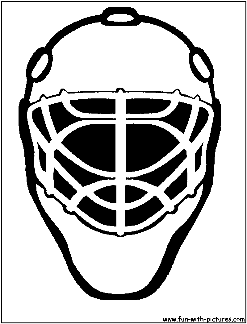 Ice Hockey Goalie Mask Template Cake Ideas