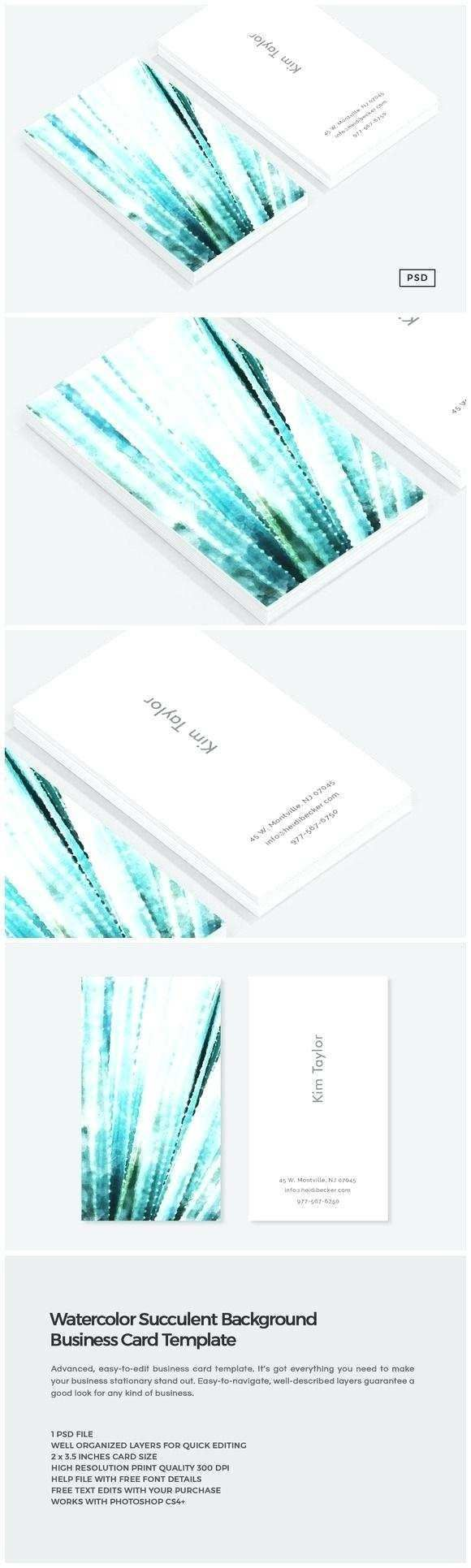 61 Format Recipe Card Template Free Open Office In Photoshop Regarding Business In 2020 Business Cards Watercolor Watercolor Business Cards Photography Business Cards