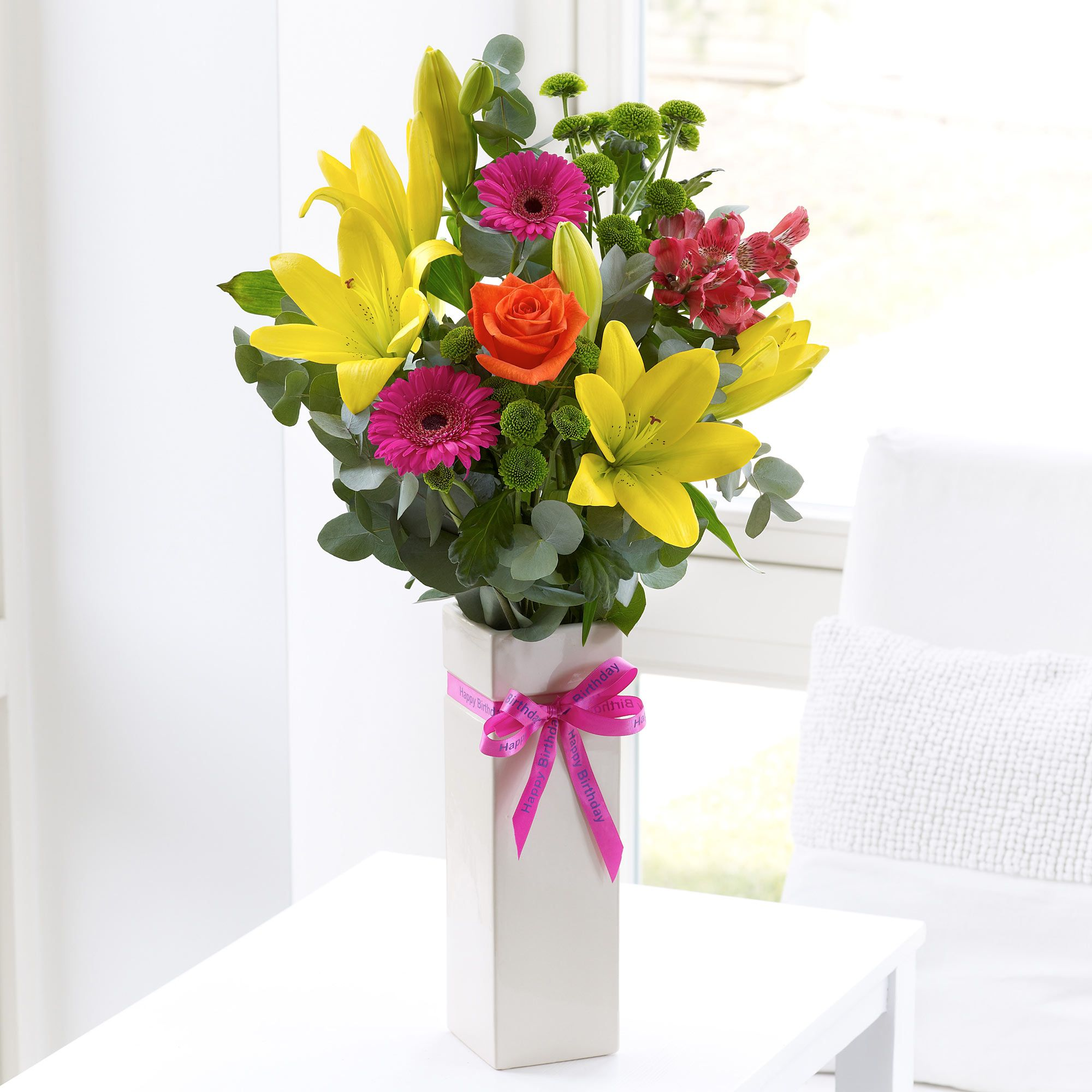A birthday vase celebration. Birthday flowers, Birthday