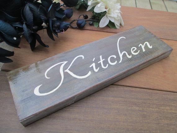 kitchen plaques cost of custom cabinets plaque oak wood sign decor wall wooden handpainted door by makememento on etsy 25 00