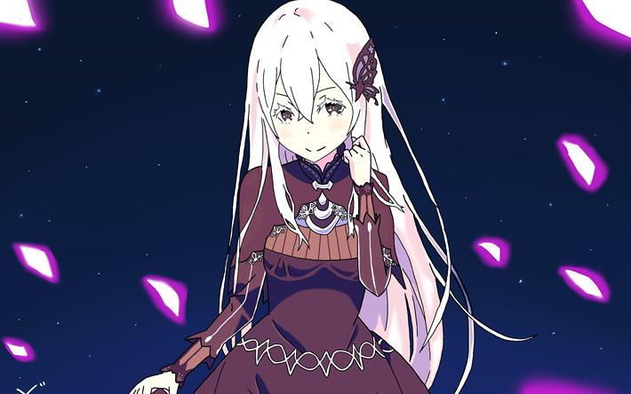 Download Wallpapers Echidna 4k Manga Anime Characters Re Zero Besthqwallpapers Com Anime Characters Anime Echidna
