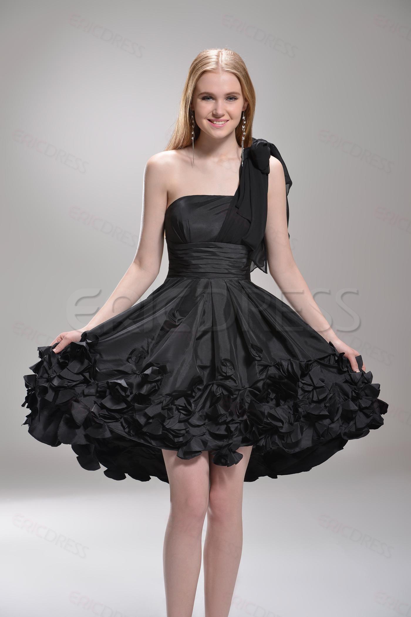 Black dress quotes pinterest - One Shoulder Black Short Mini Length Party Cocktail Dress