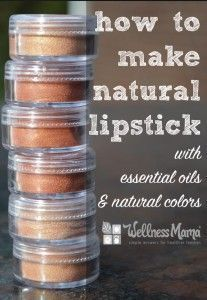 Photo of Natural Lipstick Recipe with essential oils and natural colors 207×300 Natural S…