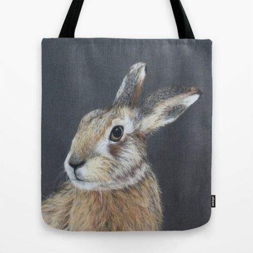 animalartonline:  The Hares Stare by Diane Nicholson