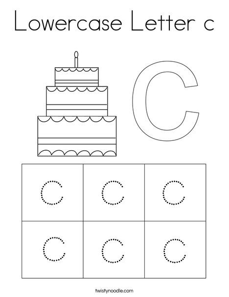 Lowercase Letter c Coloring Page - Twisty Noodle in 2020 ...