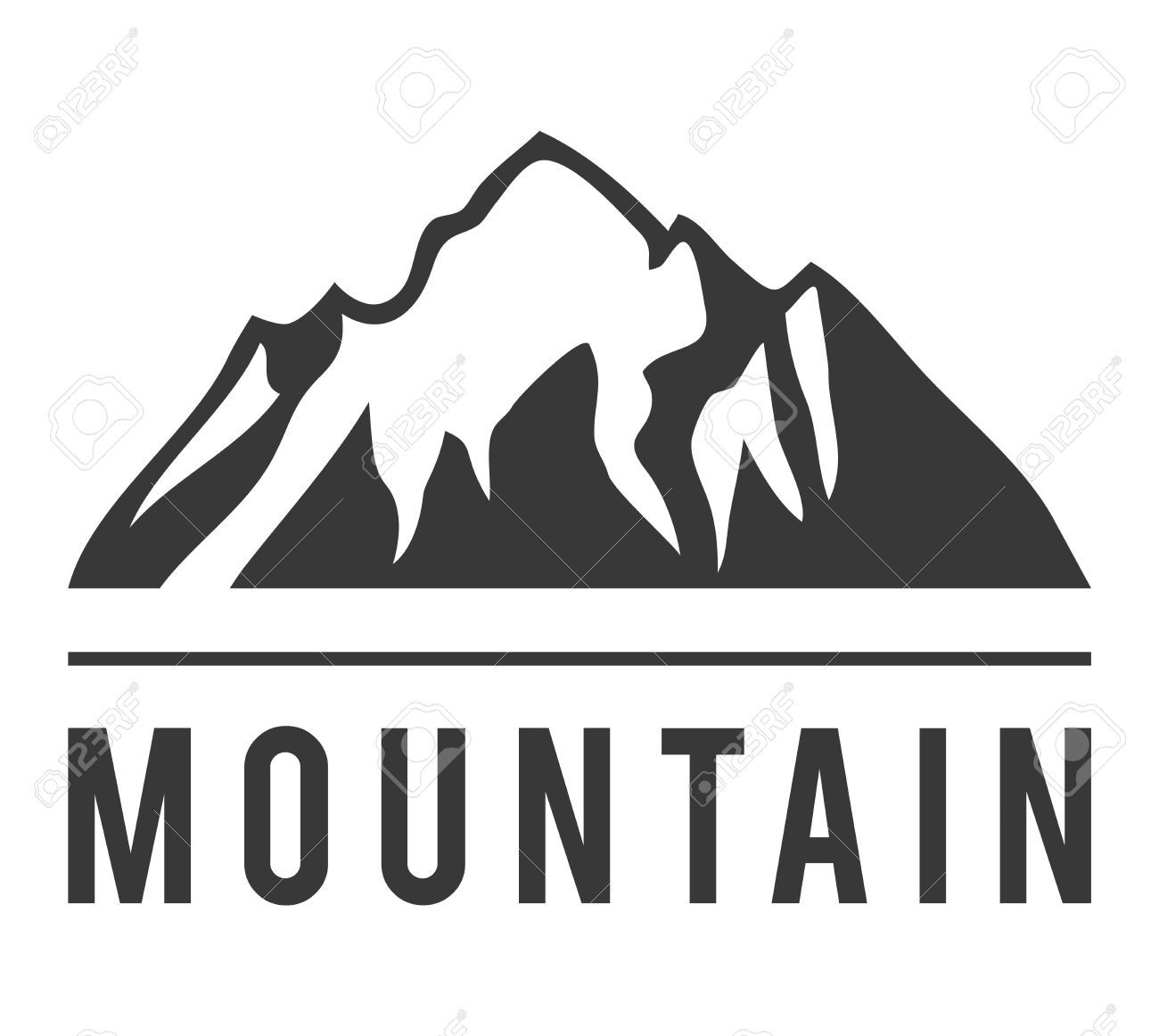Mountain Vector Icon Badge Mountain Silhouette Elements Outdoor Mountain Silhouette Logo Design Inspiration Creative Vector Icons
