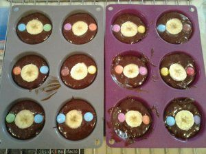 Muffins chocolat / banane