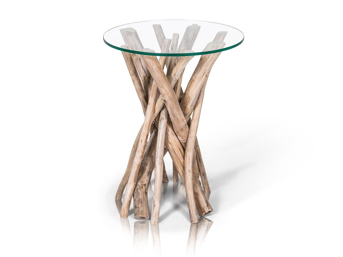 Beistelltisch Teak Aste Rund Detail Image 1 Beistelltisch Holz