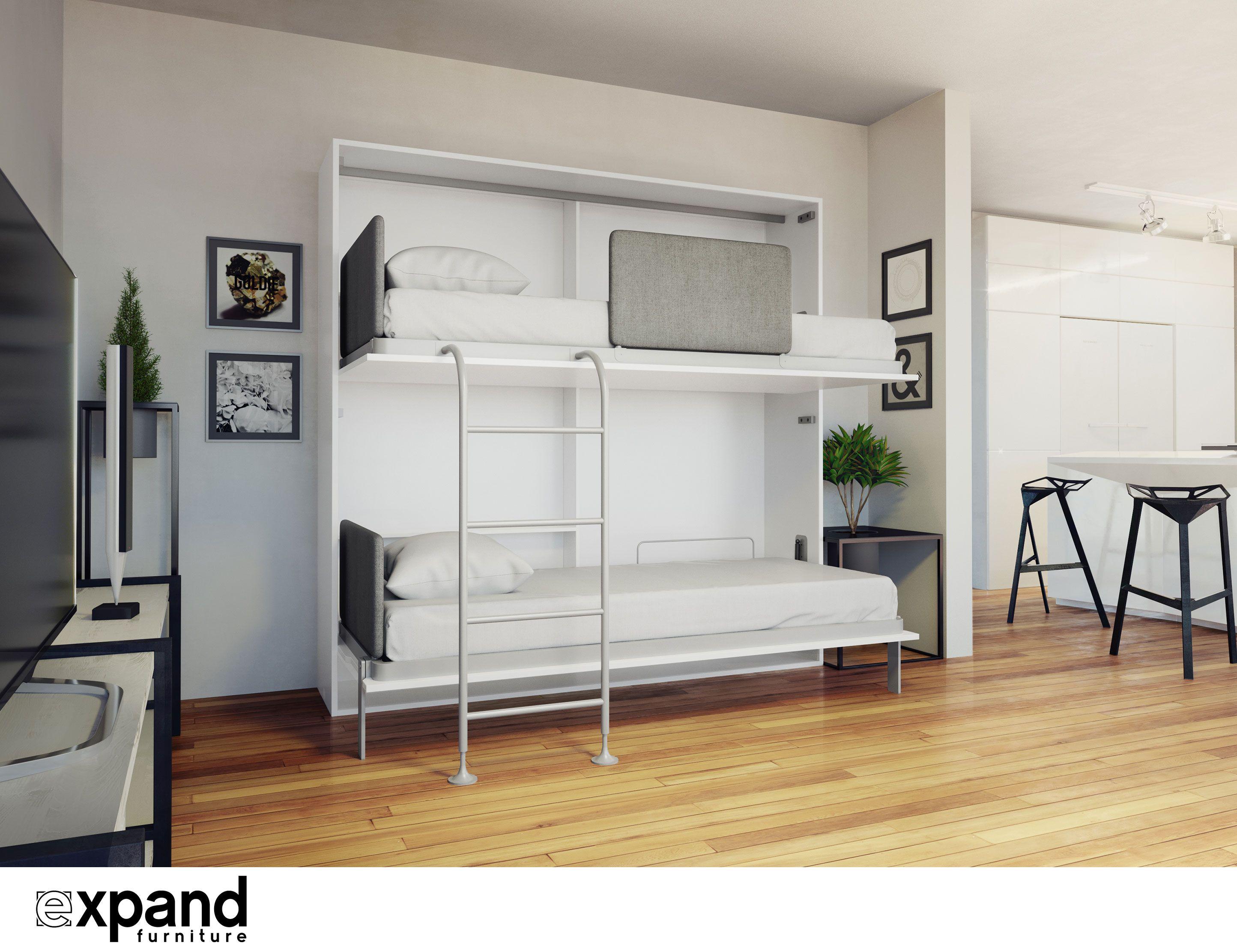Pin By Expand Furniture On Hidden Beds Custom Bunk Beds Bunk