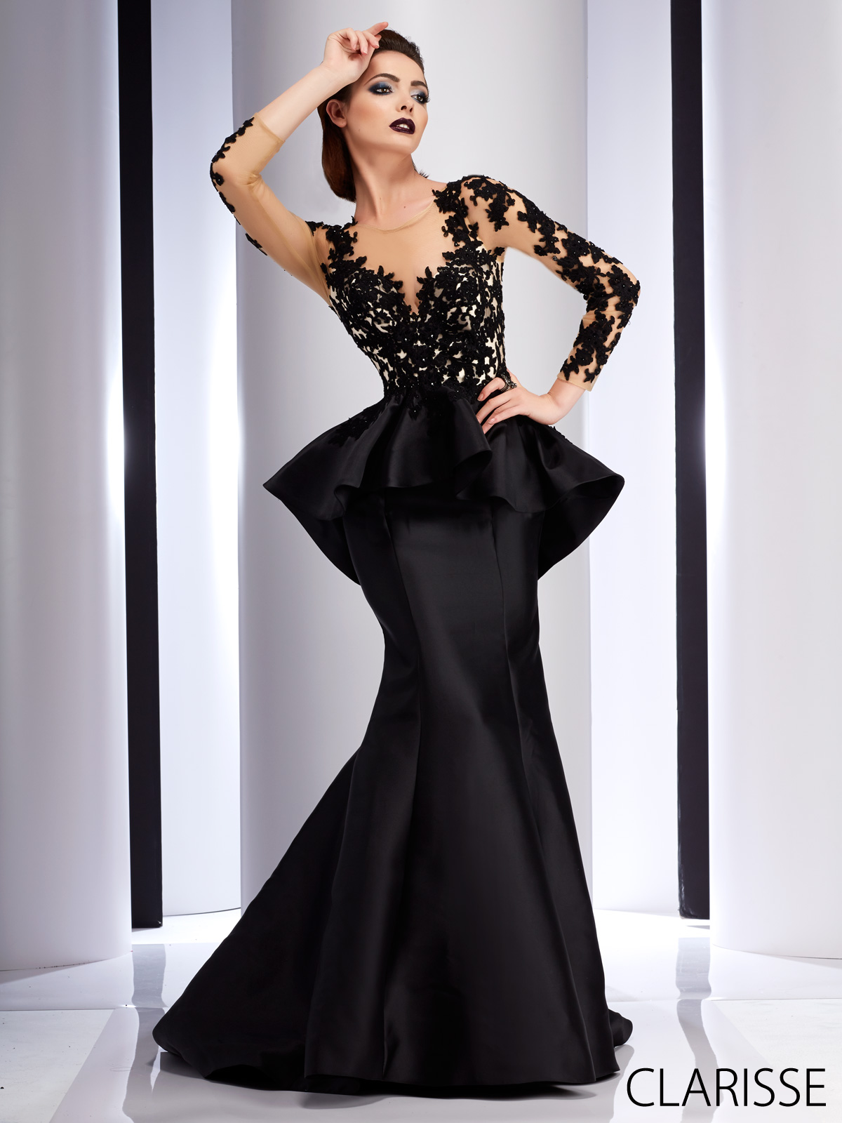 Clarisse couture long prom dress style different and
