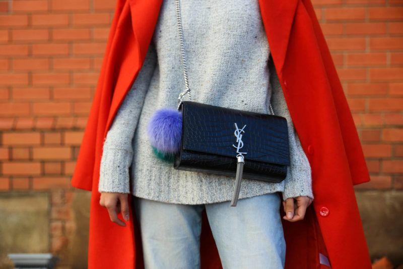 heyyy june ysl saint laurent croc embossed tassel bag orange coat winter  style black stiletto mules 3f2f3e8db275a