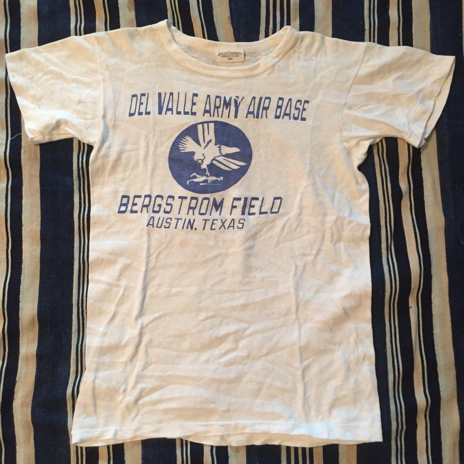 947568ea Rare 1940s WW2 Military T-Shirt USN USMC US Army | eBay Military Tshirts,