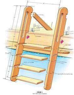 Swim Dock Ladder Cottage Living Ship Ladder Pool Ladder Wood