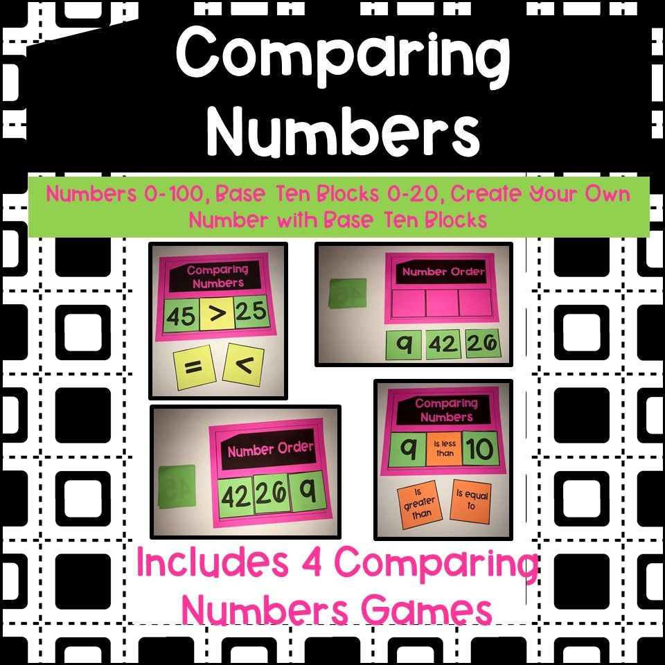 Comparing numbers games number games comparing numbers