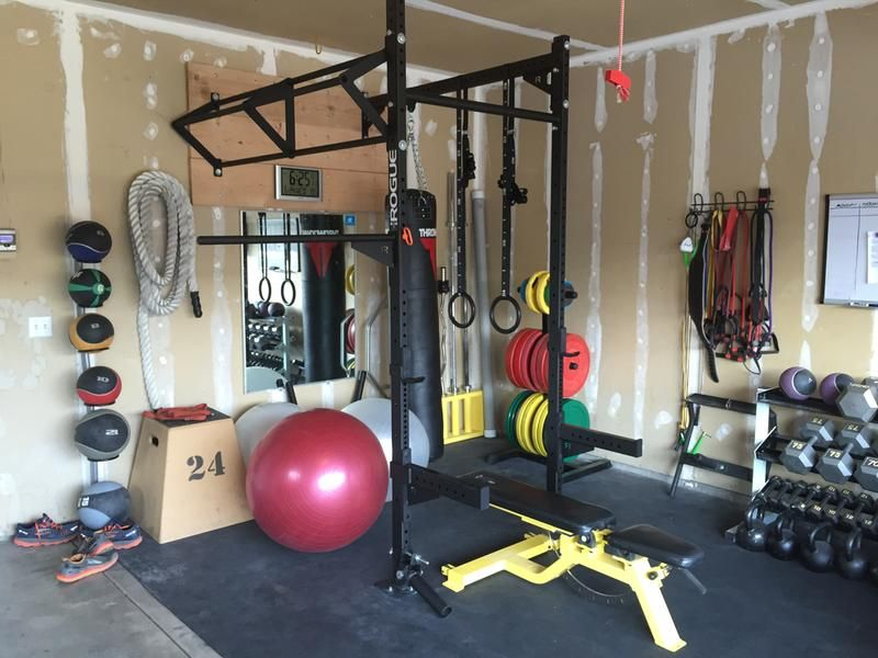 The wise garage gym ready for action! home gym calisthenics