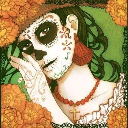 day of dead art - Catrina