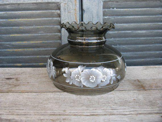 Vintage Black Glass Lamp Shade Oil Lamp Student Lamp Shade Hand