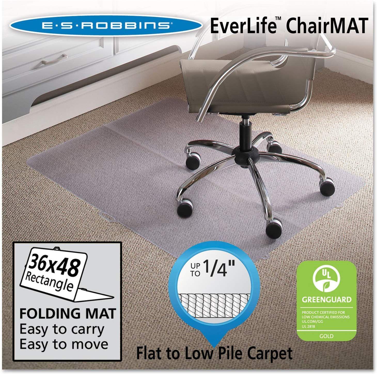 Es robbins foldable rectangle chair mat 36 x 48 esr120082