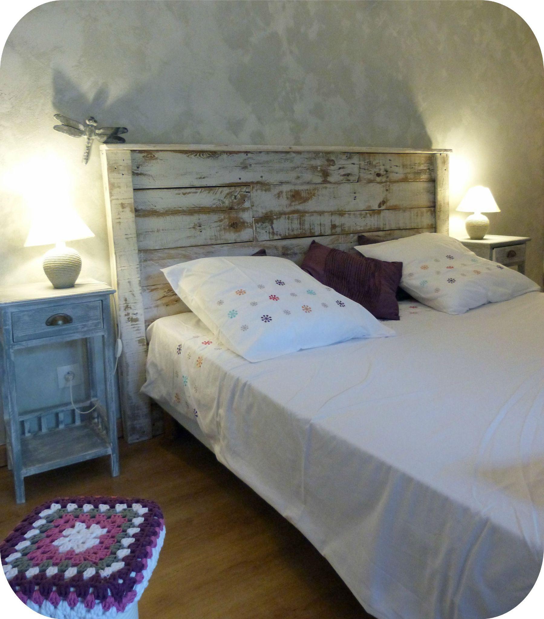 tête de lit en bois recyclé - madame ki | bois de charpente