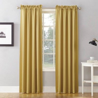 84 X54 Seymour Energy Efficient Room Darkening Rod Pocket Curtain Panel Yellow Sun Zero Panel Curtains Rod Pocket Curtain Panels Curtains