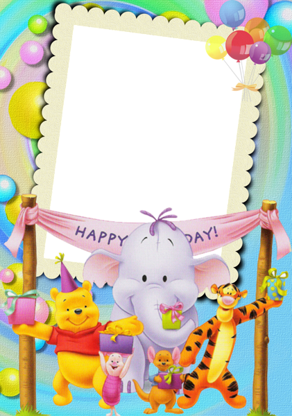 Happy Birthday with Winnie The Pooh Kids Photo Frame | DIY ...