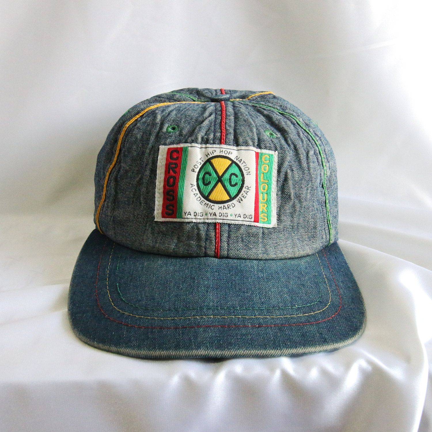 Vintage Cross Colours Ya Dig 90s USA denim Original Snapback Cap Hat Spike  Lee X Hip Hop Rap RARE by Vtg90s on Etsy  crosscolours 00e11670174
