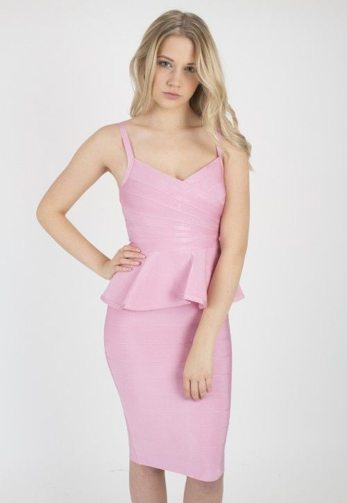 Primrose peplum bandage dress 2pc | Primroses, Party dresses online ...