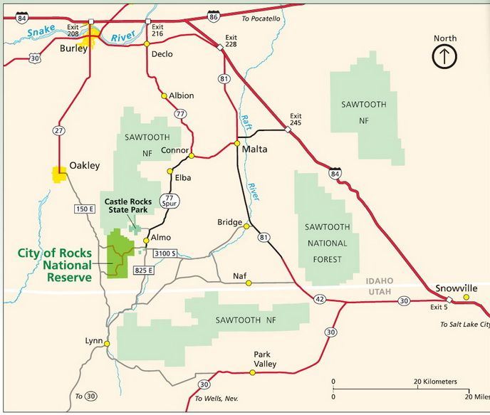 Driving Directions To City Of Rocks Idaho With Images Vacation Plan National City City