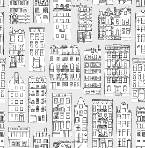Amazon Color The City Coloring Book Of Skylines Across World