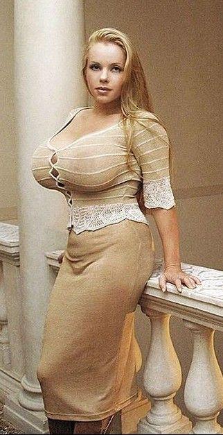 Busty glamour lady